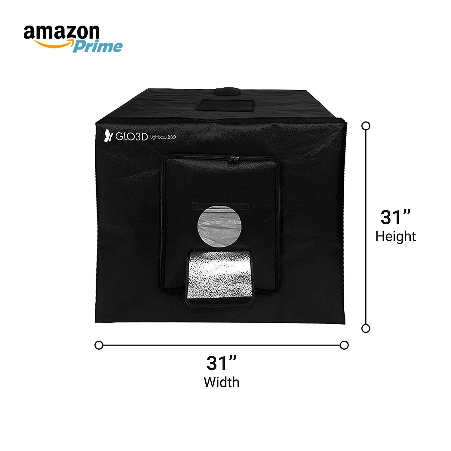"""Glo3D LB80 Foldable Photo Studio Lightbox - 31""""x 31"""" Portable LED Photography Tent with 3 Color Backgrounds Webreed Inc."""