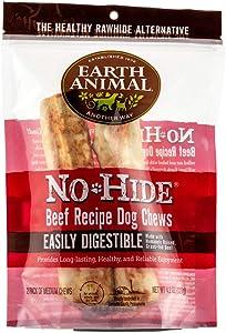 Earth Animal No-Hide Grass-Fed Beef Medium Natural Rawhide Alternative Dog Chews, 2-Count
