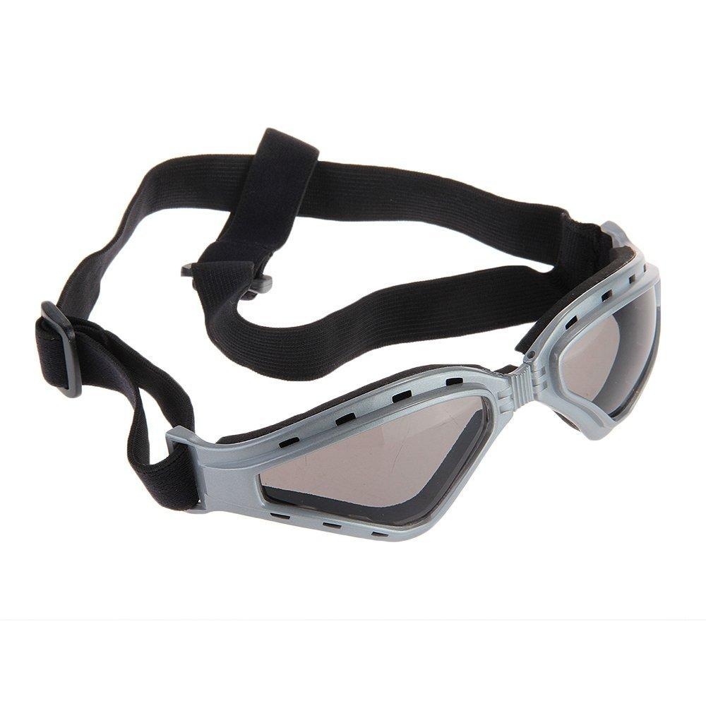 SODIAL(R) Gafas Protectoras Color Gris para Mascotas Perro Correa Ajustable SODIAL (R)