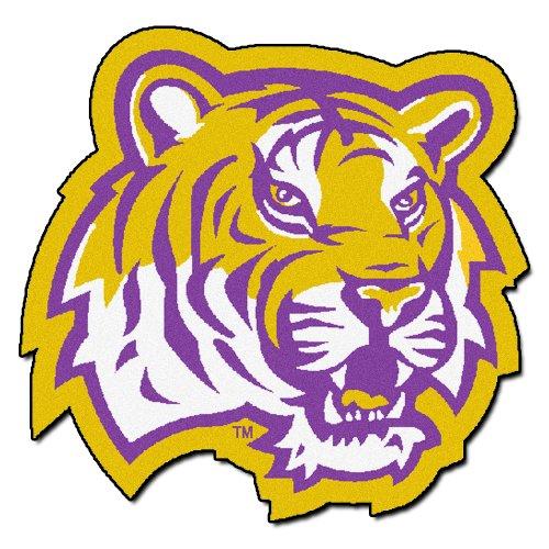 FANMATS NCAA Louisiana State University Tigers Nylon Face Mascot Rug