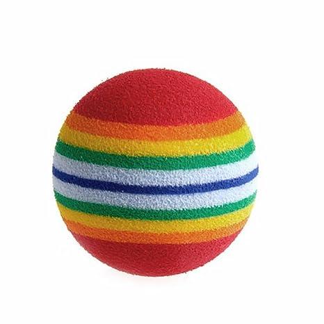 Siwanm Pelota de Goma para Perro diseño de Pelota de arcoíris ...