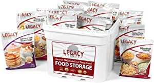 Gourmet Survival Home Food Storage - 120 Large Servings Meal Assortment:31 Lbs Emergency Supply - DisasterPrep Freeze Dried Supply Kit - Dehydrated Breakfast, Lunch & Dinner