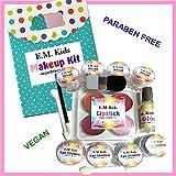 14pc Kit E.M. Kids Natural Pretend Play Girls Makeup Set w/ Free Makeup Bag