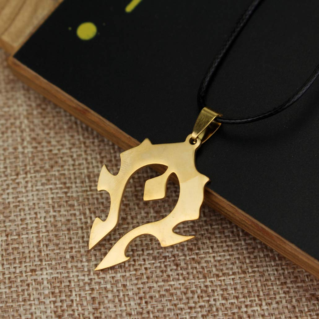 Bergort Symbol Pendant Necklace Stainless Steel Choker Necklace for Men Women Jewelry Gift