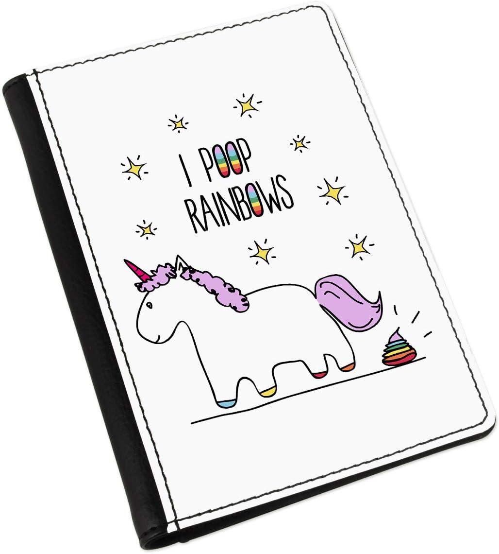 Lila Unicorn I Poop Rainbows Passport Holder Cover