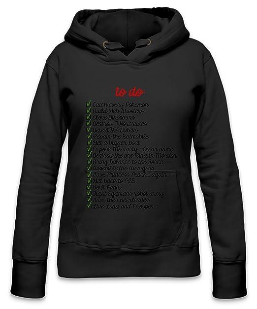 Gamer To Do list Funny Slogan Womens Hoodie  Amazon.es  Ropa y accesorios 39f72781e94