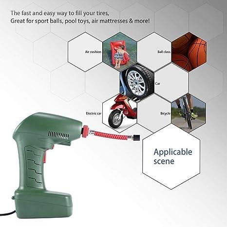GEGEQUNAERYA Compresor de Aire portátil Auto inflador de neumáticos Bomba de Mano Colchones de Aire para