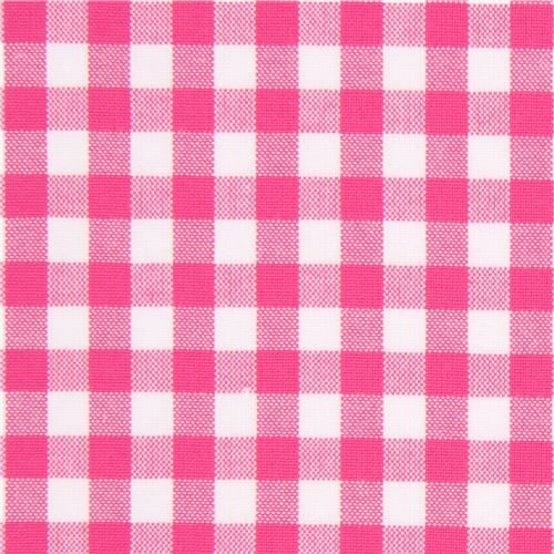 Pink Buffalo (Tablecloth linen plaid dinner summer dining picnic throw blanket table cover gingham buffalo bohemian checkered table cloth cotton machine washable 64x64 inch hot pink)