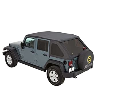Bestop 56823 35 Black Diamond Trektop NX Complete Frameless Replacement Soft  Top With With Sunrider
