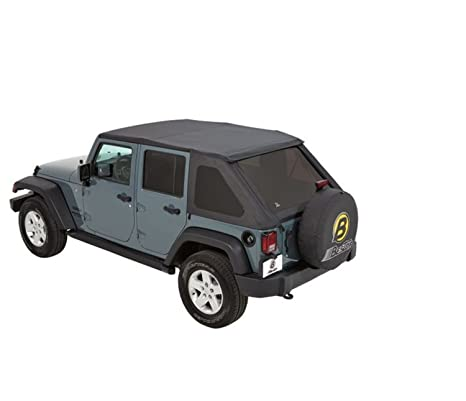 Sunrider Soft Top >> Bestop 56823 35 Black Diamond Trektop Nx Complete Frameless Replacement Soft Top With With Sunrider Sunroof Feature For 2007 2017 Wrangler Unlimited