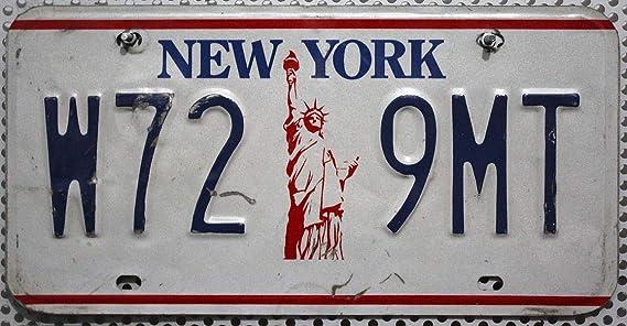 Usa Auswahl Von Fahrzeugschildern Original New York Nummernschild Fahrzeug Kennzeichen Us License Plate Usa Metall Schild Mit Motiv Freiheitsstatue Statue Of Liberty Auto