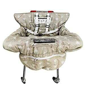 Shopping Cart Cover for Baby, High Chair Cover, Machine Washable and Waterproof for Infant, Toddler, Boy or Girl Large