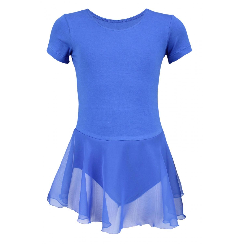 Aquarti Mädchen Ballettanzug Kurzarm Body mit Chiffon Rock