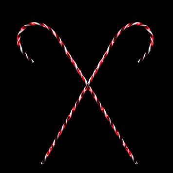 set of 2 peppermint twist giant lighted candy cane pathway markers outdoor christmas decorations 60 - Giant Candy Decorations Christmas