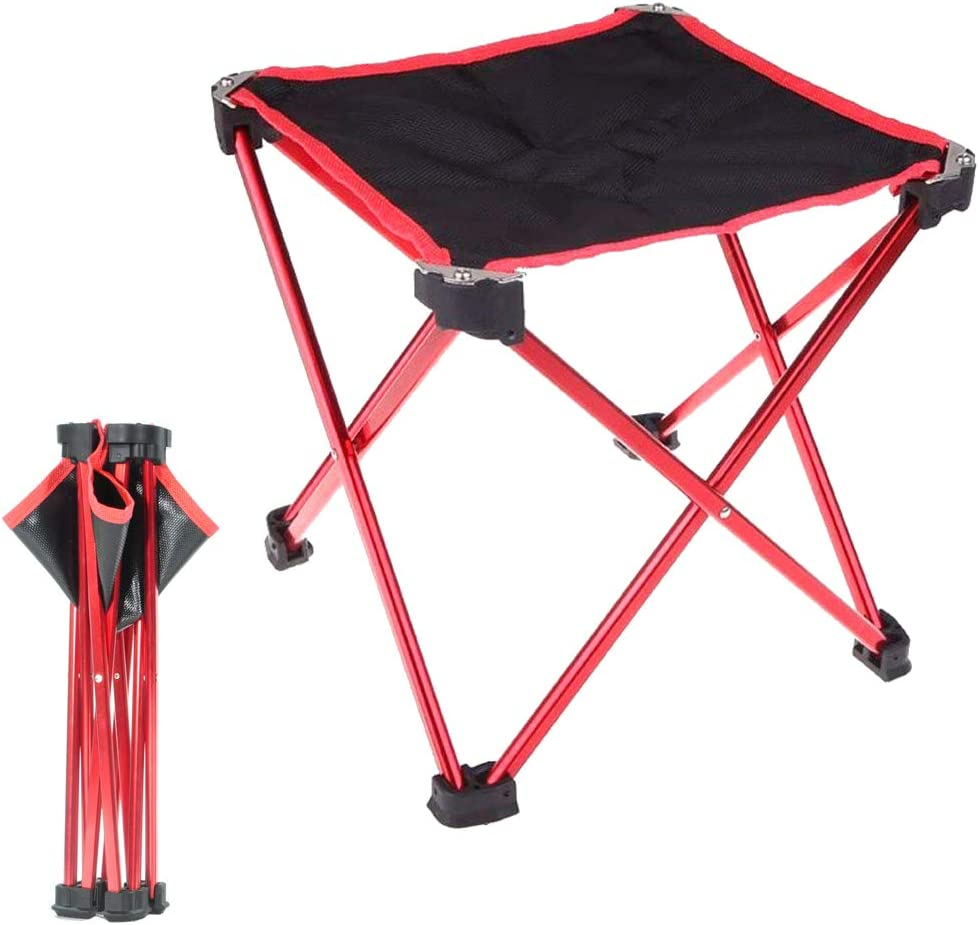 Hodeacc Small Portable Folding Stool,Mini Outdoor Camping Folding Chairs,Collapsible Camp Stool Lightweight for Camping,Fishing,Picnic,Travel and Hiking