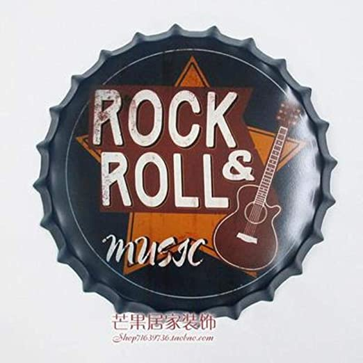 Rock & Roll Gran Cerveza Cubierta Cartel de Chapa Logo Placa ...