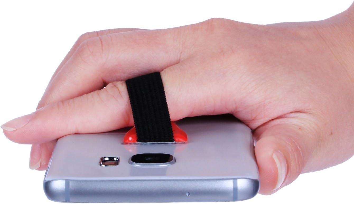 Incutex Universal Finger Mango Soporte de tel/éfono Mango Goma para Smartphone Amarillo