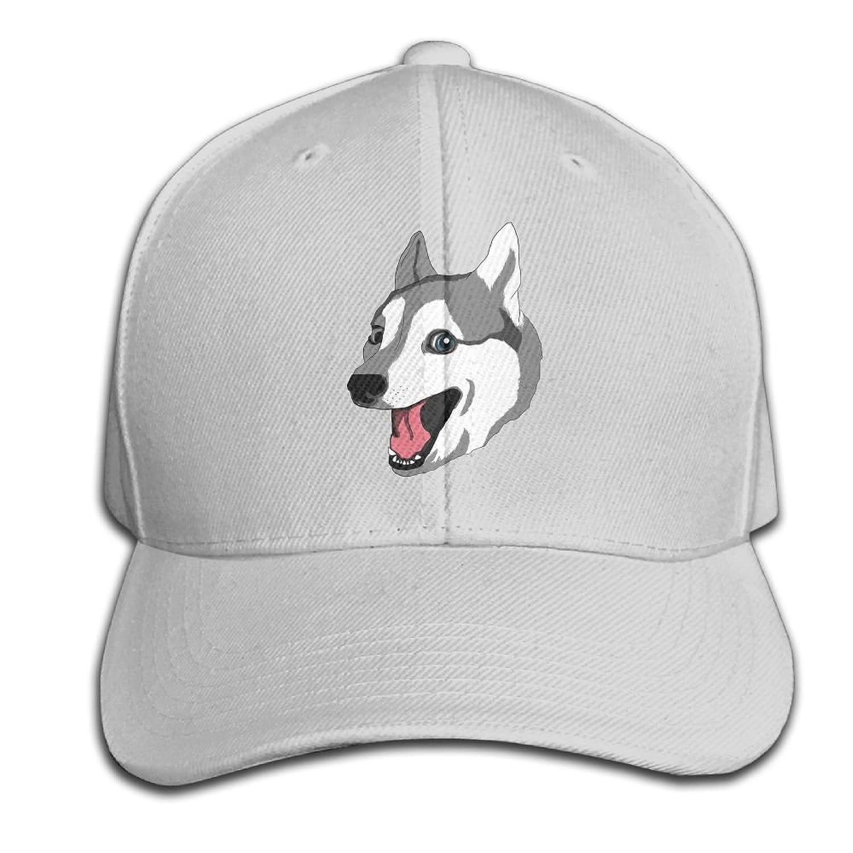 6bbebd1ccd0 BLACKY Happy Husky Baseball Cap Dad Hat Peaked Trucker Hats for Women Men