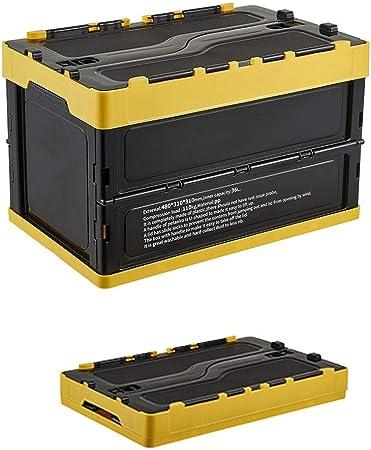 Caja Plegable De La Cesta Del Almacenamiento Con La Cubierta 36L Plegable De Plástico Caja De