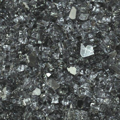 [해외]벽난로 유리 - 화재 구덩이 유리 - 그레이 반사 ¼ 인치 - 25 파운드/Fireplace Glass- Fire Pit Glass- Gray Reflective ¼ Inch - 25 Lbs