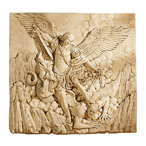 Wall Frieze (Design Toscano St. Michael the Archangel Sculptural Wall Frieze in Stone)