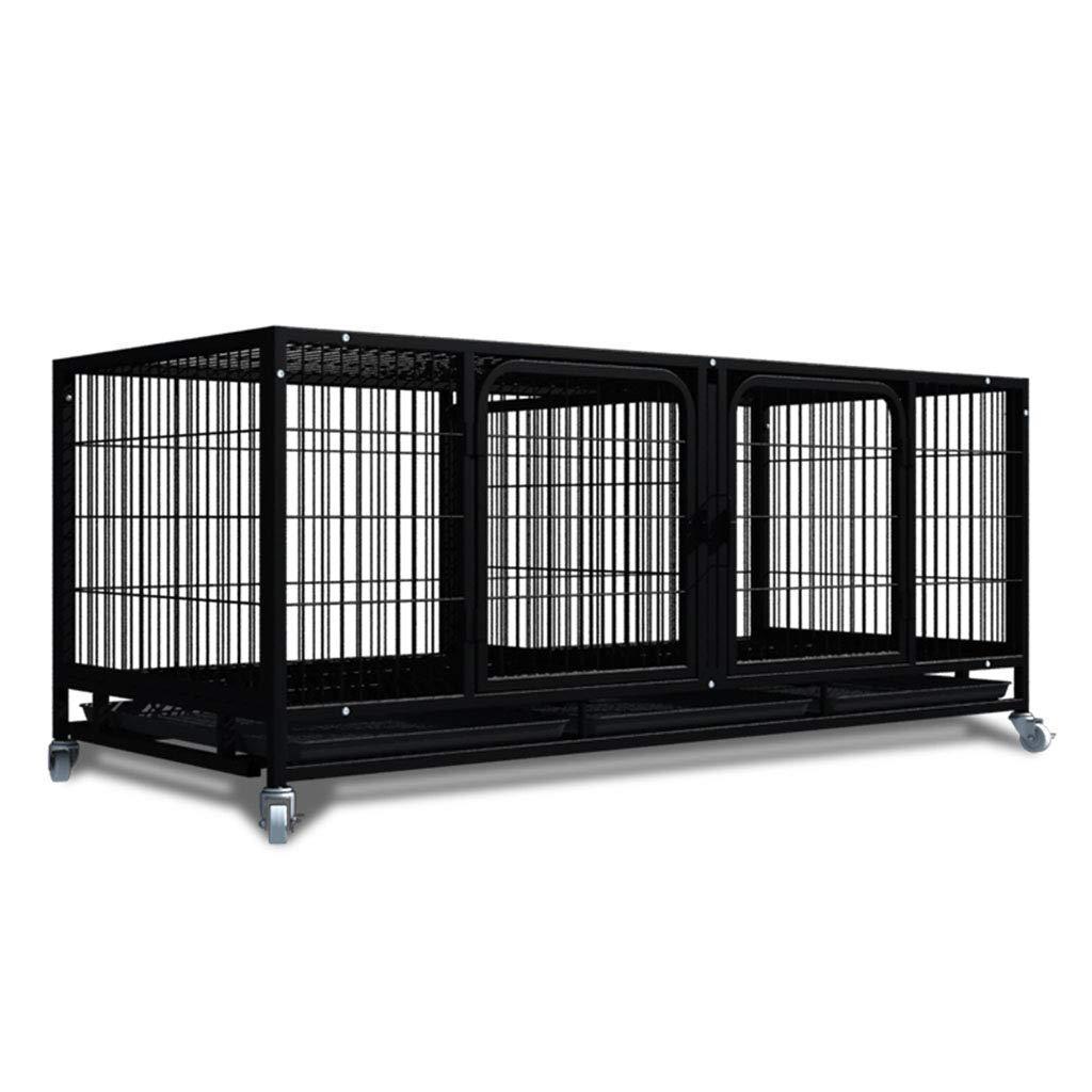Tsdhjk Jaula de Transporte para Mascotas, de Metal, Doble Puerta ...
