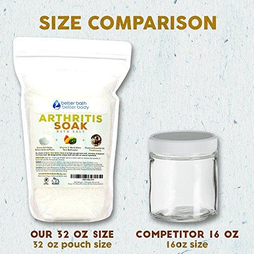 Arthritis Bath Salt 32oz (2-Lbs) - Epsom Salt Bath Soak With Frankincense Essential Oil & Vitamin C - Get Arthritis Relief With This Natural Bath Soak - All Natural No Perfumes No Dyes by Better Bath Better Body (Image #5)