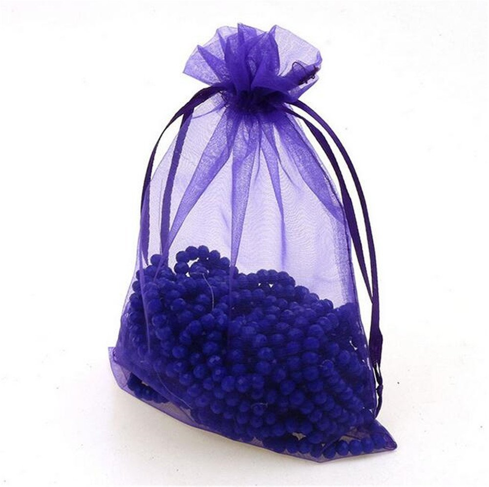 Organza Wedding Party Favor Bags- Package of 100 (6''x9'', Purple) by Ximkee (Image #2)