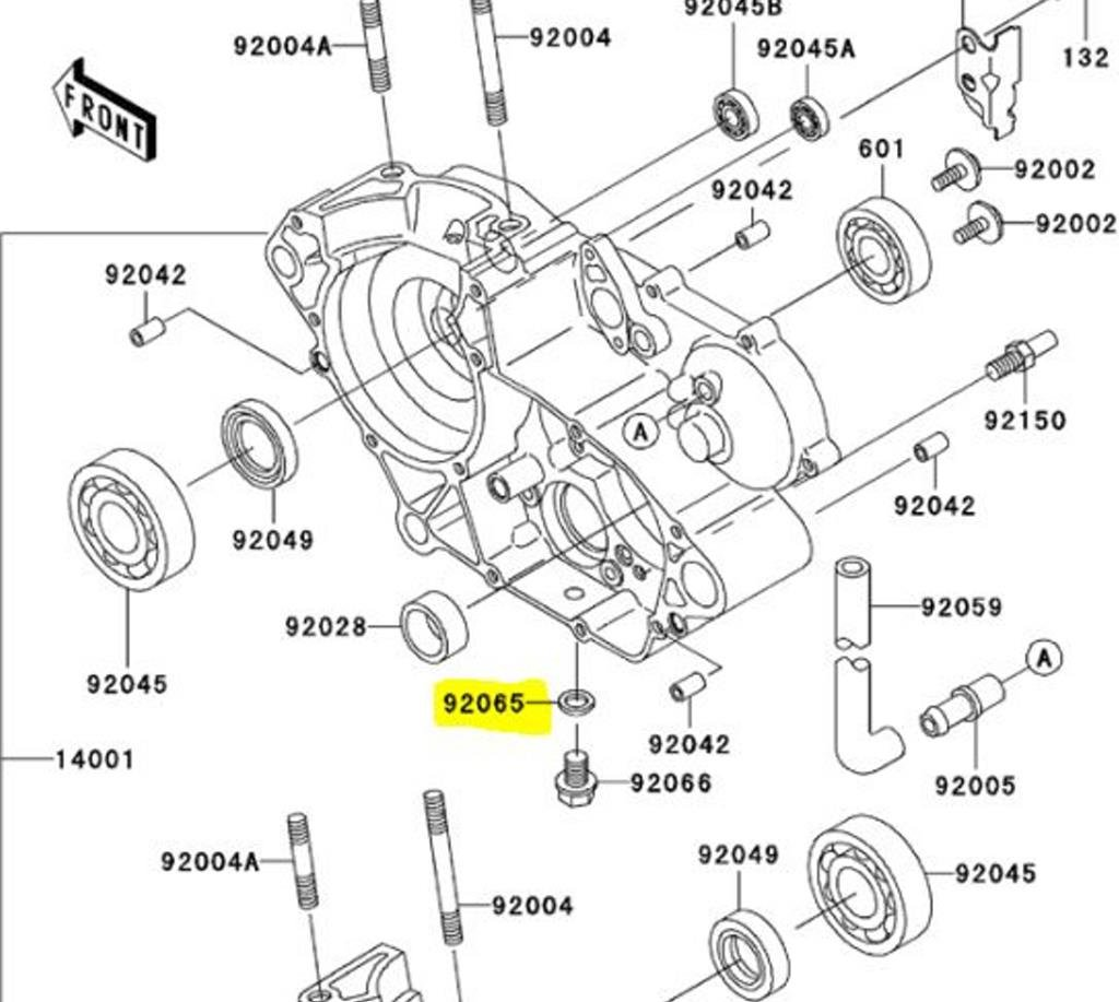 Kawasaki Oem Replacement Oil Drain Bolt Crush Washer Off Raptor 350 Engine Gasket Diagram Road Bikes 92065 058 Automotive