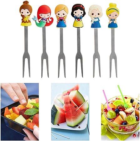Confezione da 6/multi colore frutta forchette forchettine da cocktail party//