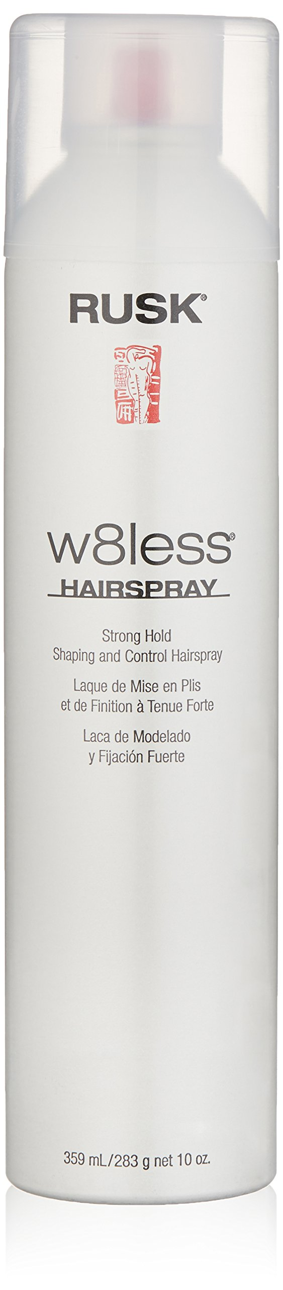 RUSK Designer Collection W8less Strong Hold Shaping and Control Hairspray, 10 fl. oz. 55% VOC