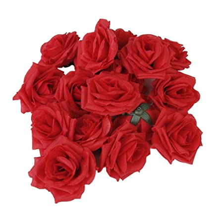 Tinksky artificial rose silk flower craft for home wedding party tinksky artificial rose silk flower craft for home wedding party decoration in red 20 pack mightylinksfo