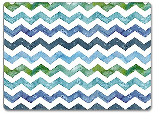 CounterArt Hardboard Placemat, Chevron, Set of 2 - Set of 2 hardboard dining placemats Durable, layered hardboard construction Features a beautiful design on top surface and a cork backing - placemats, kitchen-dining-room-table-linens, kitchen-dining-room - 618Htly8jtL -
