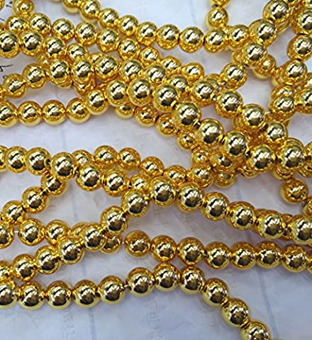 100pcs 8mm 14K real solid gold seamless round beads,Round Ball Solid Brass Bead, Rose Gold,Silver Gunmetal Spacer - Gold Silver Brads