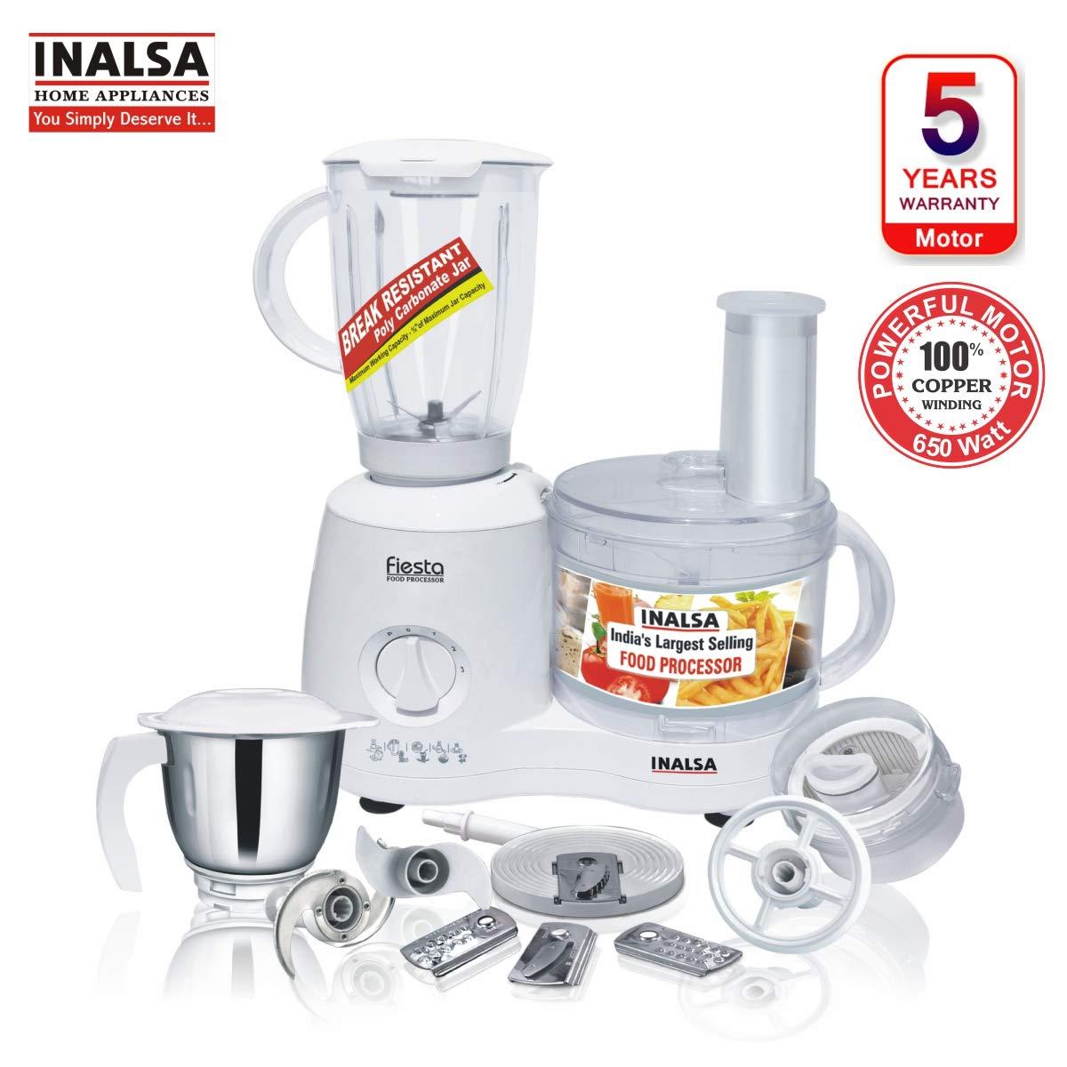 Inalsa Food Processor Fiesta 650-Watt