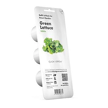 Recarga Triple de Lechuga verde para Smart Garden - Click and Grow: Amazon.es: Jardín