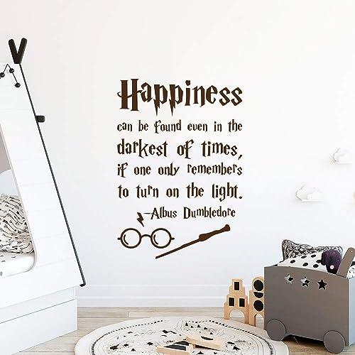 "Nursery decor Harry Potter wall sticker /""Dark times/"" Dumbledore quote wall art"