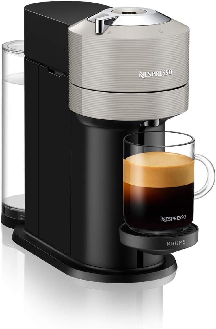 Krups Vertuo Next - Cafetera expresso Nespresso para café (5 tamaños de tazas, 1,1 L), color gris claro: Amazon.es: Hogar
