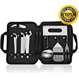 Camping Cookware Utensils Set,8+2,Detachable Handle Camping Kitchen Cooking Utensils Set,Portable Outdoor BBQ Travel Hiking Cookware Kit with Waterproof Carry Bag - by Forest Master