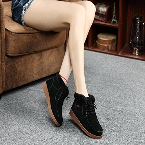 casual Cotton Snow shoes boots boots boots Warm women Aksautoparts Black winter 8xTqw8Y