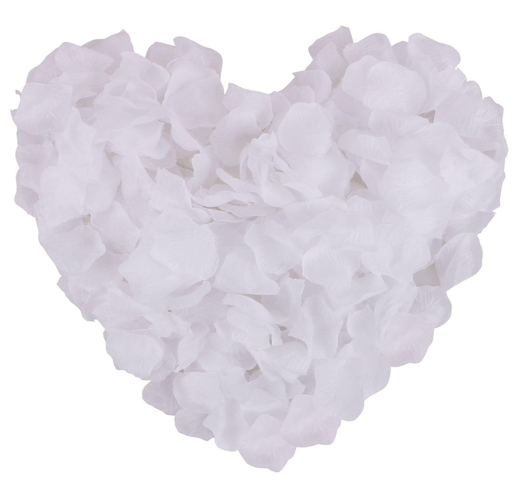 silk flower arrangements jasmine 1000 pcs non-woven rose petals artificial fabric flower for valentine ceremony home bouquet,white