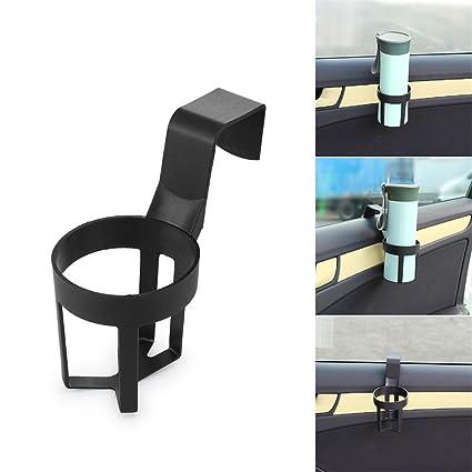 Kalebay Universal Auto portavasos Plegable Tipos de pie y latas, Color Negro