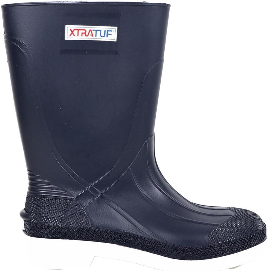 "Xtratuf 75136 11/"" White PVC Shrimp Deck Boot Rubber Fishing Waterproof"
