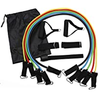 AMHDEE Multi-Function Resistance Band Set Fitness Belt with