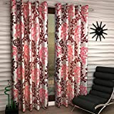 V Decor Fancy Eyelet Single 1 Piece Polyester Maroon Curtain,Window 5 Feet