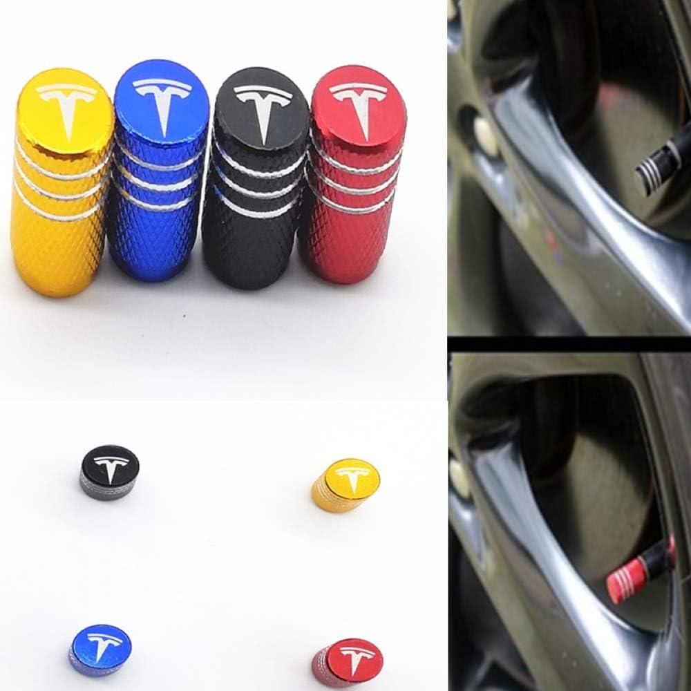 EVPRO Valve Stem Caps 4 Pack Blue Car Tire Decorative Fit for GMC Accessories