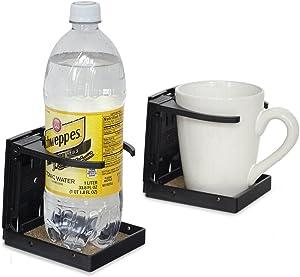 Large Size Folding Walker/Wheelchair/Rollator Cup Drink Holder (Black)