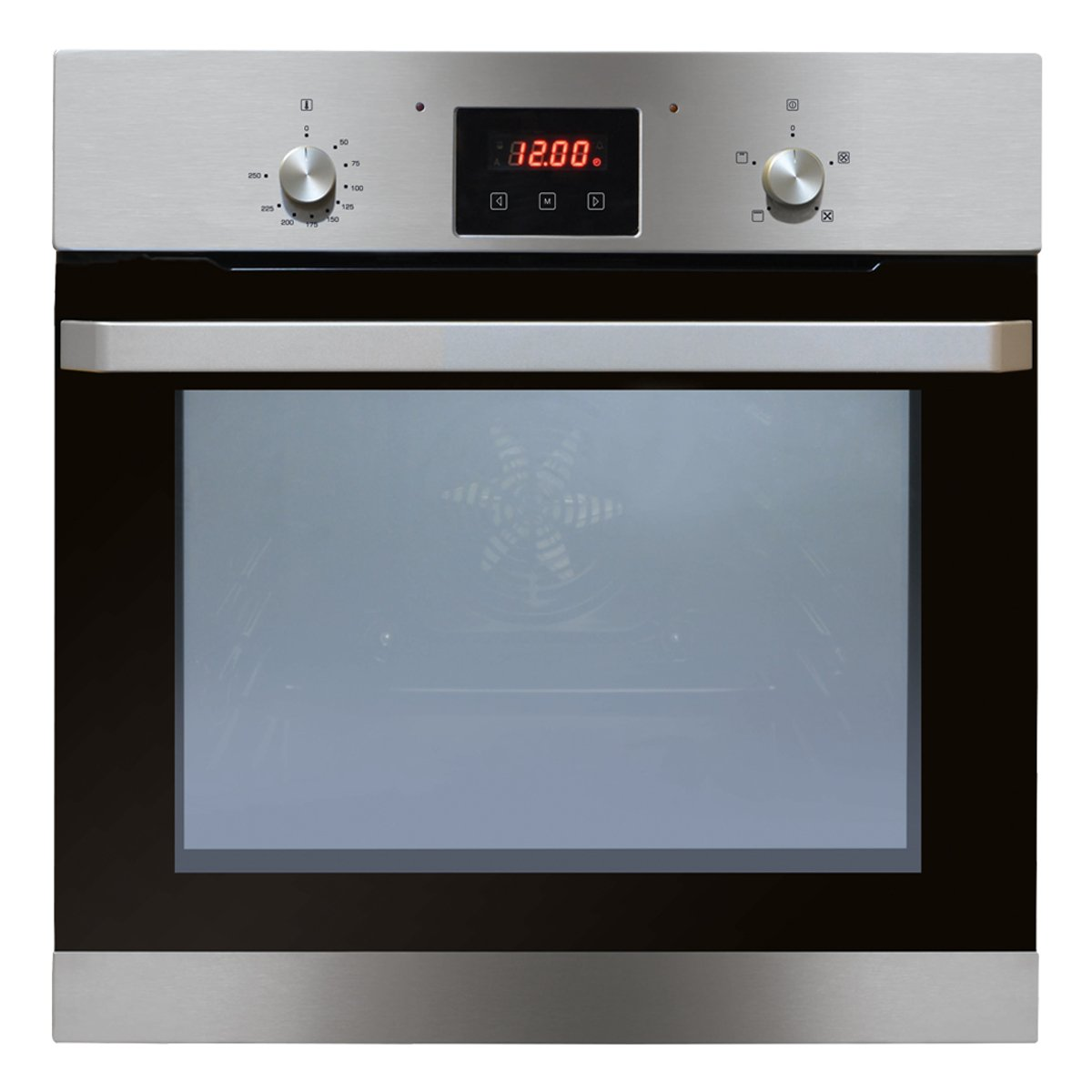 Enamel Interior Amica ASC310WH Electric Fan Oven with 5 Functions White Triple Glazed Removable Door and A Energy Rating