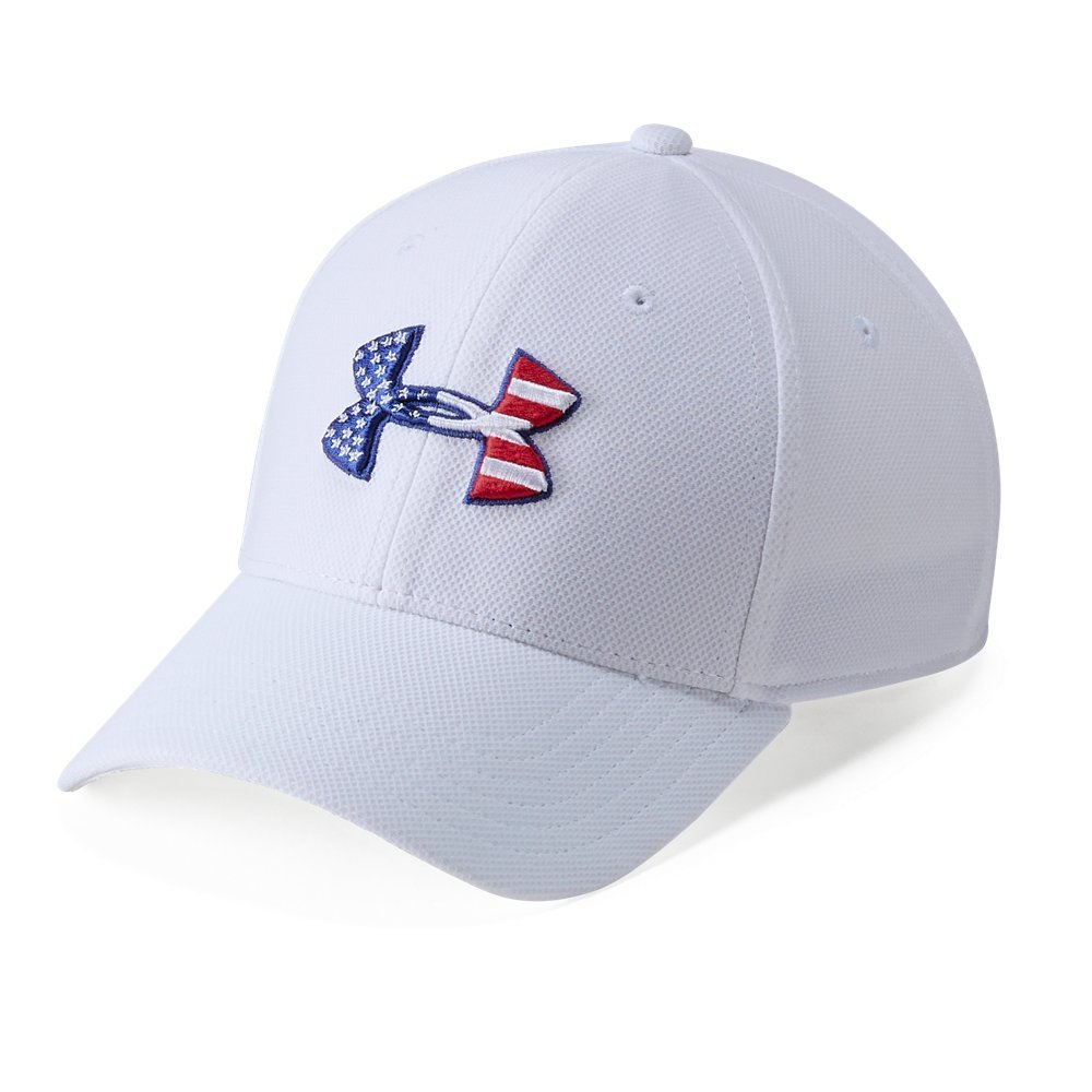 Under Armour Mens Freedom Blitzing Cap, White (100)/Scribe Blue, Small/Medium