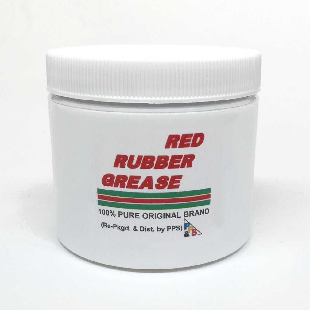 114 gm / 4 oz. 100% PURE GENUINE CASTROL RED RUBBER GREASE, for Brake Caliper Piston Seals and Boots, Corrosion and Oxidation Resistant, Meets Lucas Girling TS-2-34-04 spec. by Castrol Red Rubber Grease